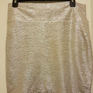 Tight, sparkly skirt